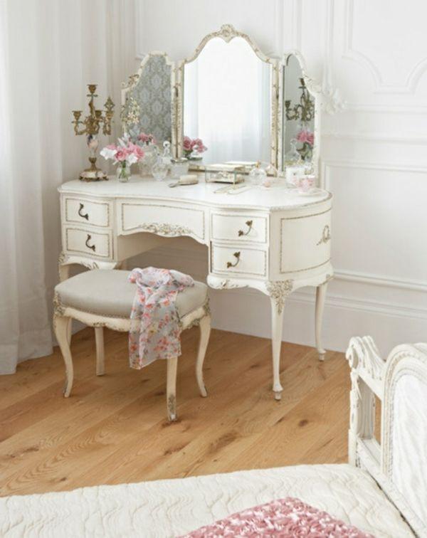 schminktisch in weiß und weiße wandfarbe - 25 kreative ... - Schlafzimmer Ideen In Wei