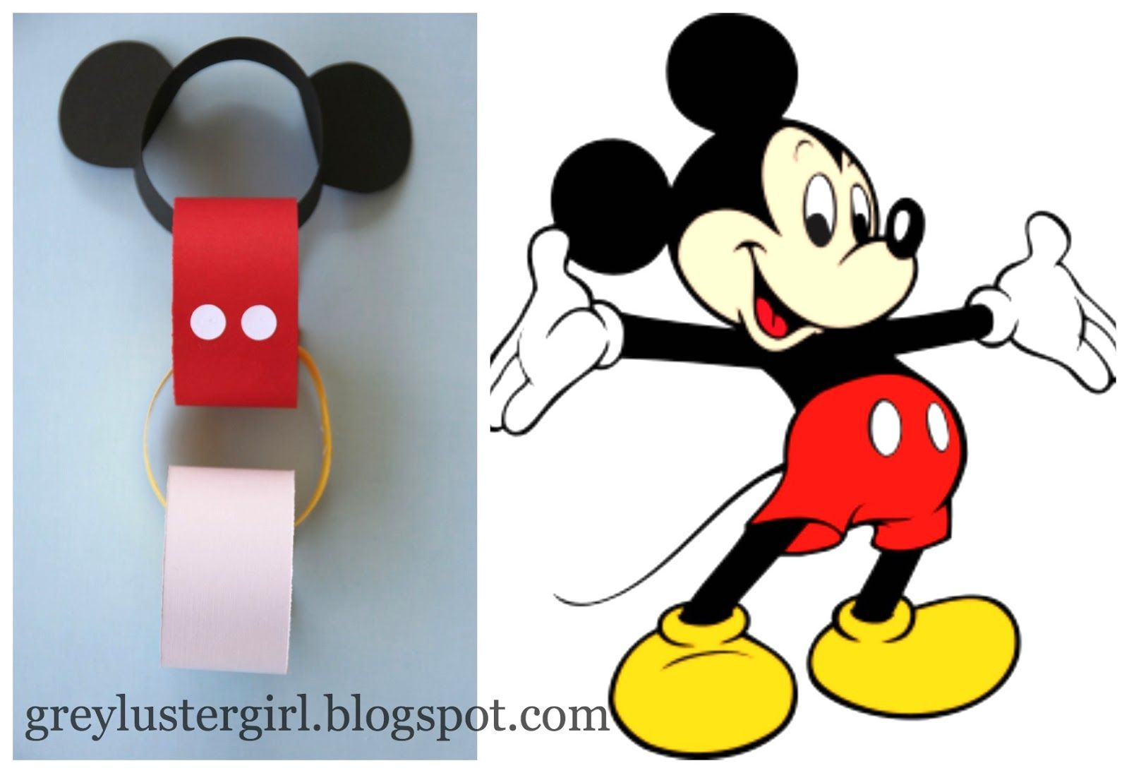 Grey Luster Girl Disney Countdown Chain Tutorial With Mickey Ears