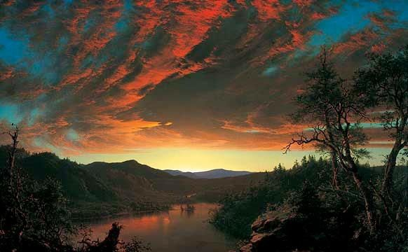 Oil painting by Fredric Edwin Church