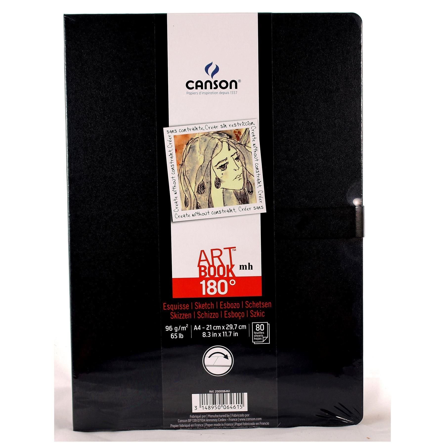 Canson 180 Sketchbooks 96gsm 80 Sheets Light Textureed Surface