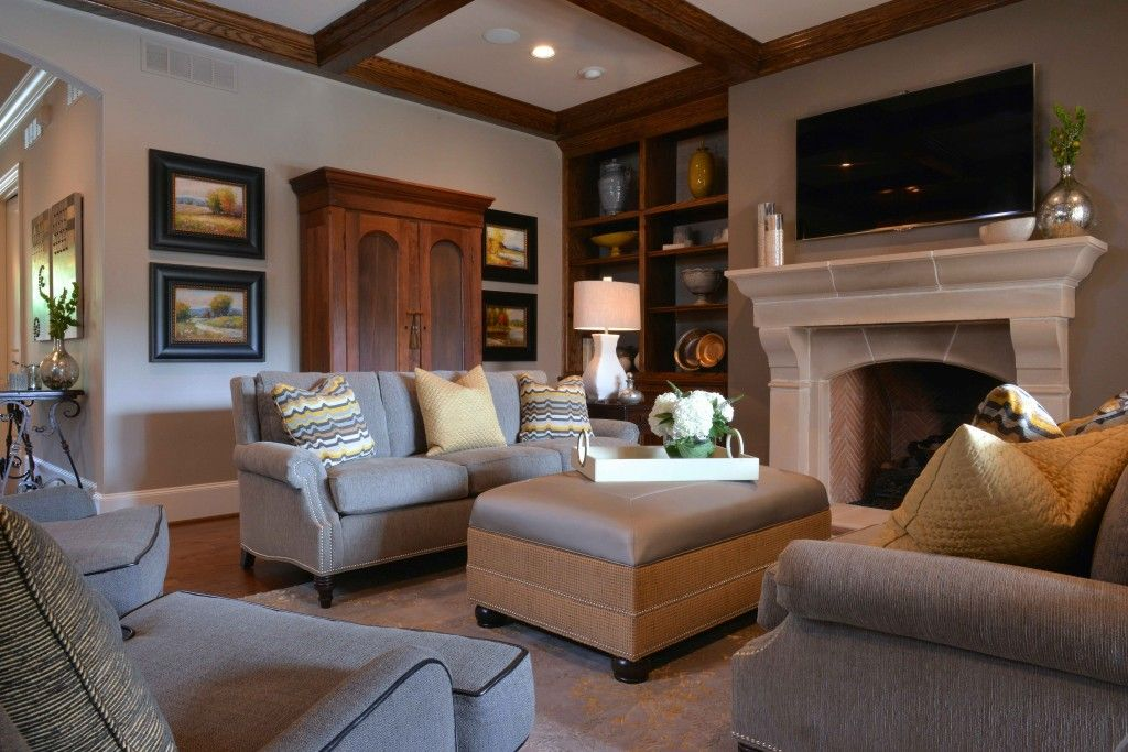 Transitional style living room interior design by barbara gilbert interiors in dallas texas