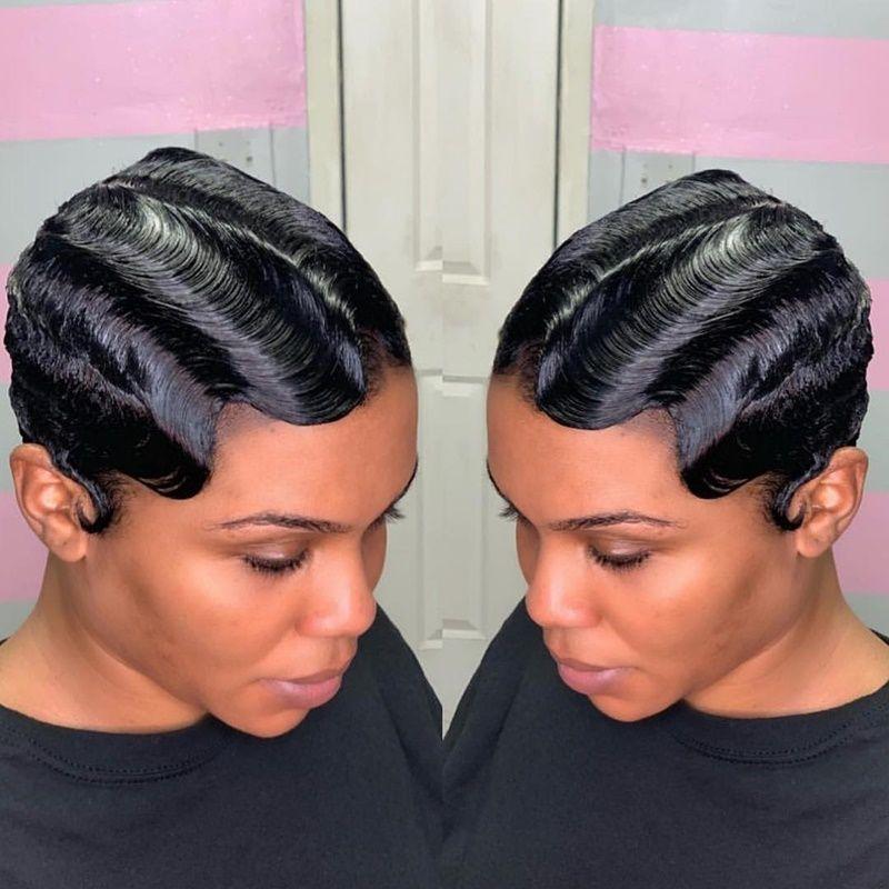 40 Short Hairstyles For Black Women September 2020 Black Women Hairstyles Short Hair Styles Finger Waves Short Hair