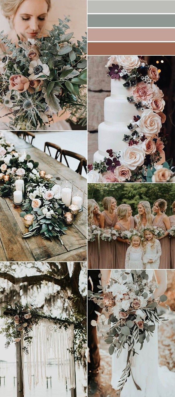 sage green and dusty rose wedding color ideas