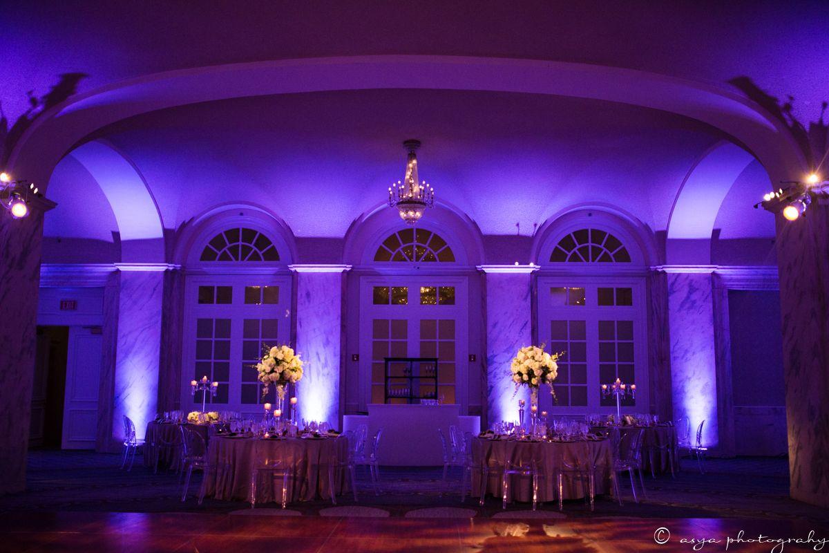 Colorchanging led uplighting dark amber dance floor wash