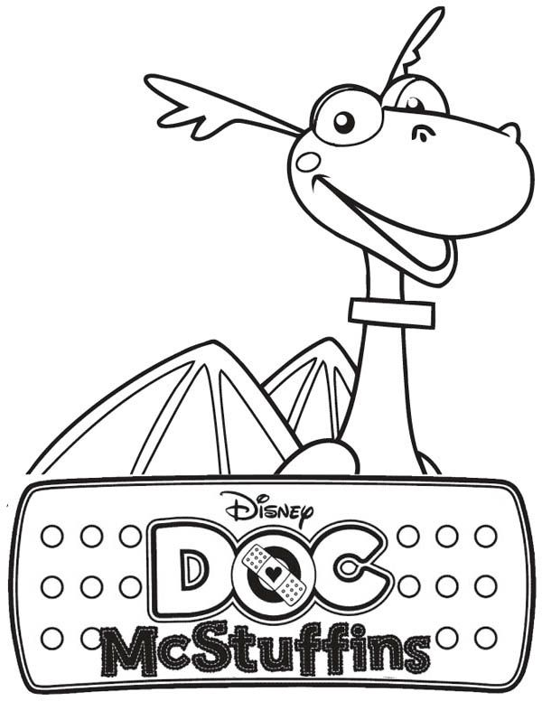 Stuffy the Dragon in Doc McStuffins Coloring Page | Random ...