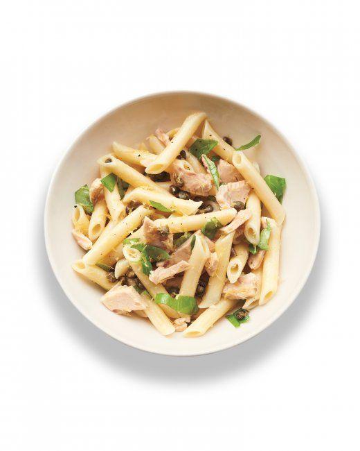 Tuna, Caper, and Basil Penne, recipe we should try it.