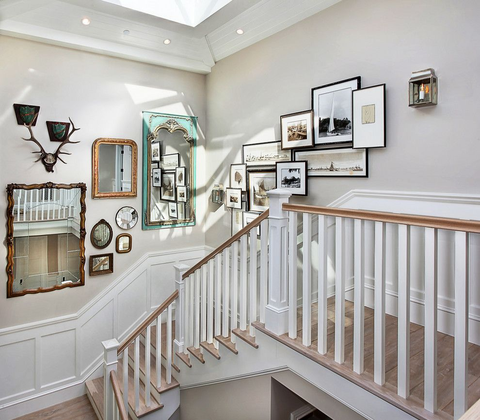 Tremendous 3 5X7 Collage Picture Frames Decorating Ideas Images In Staircase  Traditional Design Ideas