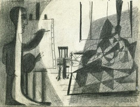Pablo Picasso, The Studio - The Artist and His Model III, 1963 on ArtStack #pablo-picasso #art