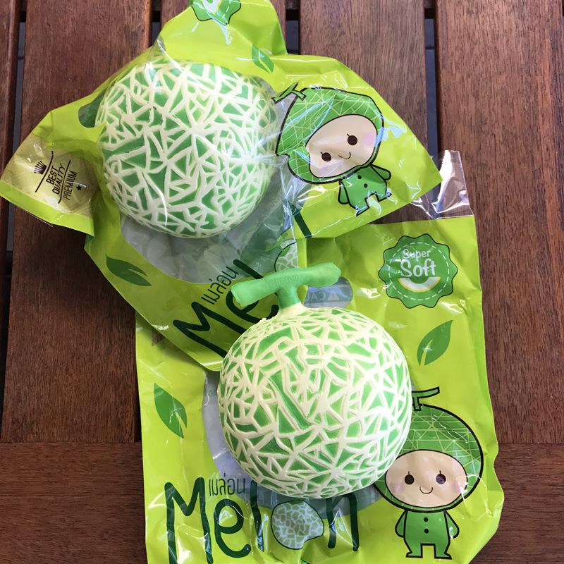 Rare* Chawasampeng Jumbo Melon squishy *scented* licensed Squishies/Squeeze Toys Pinterest