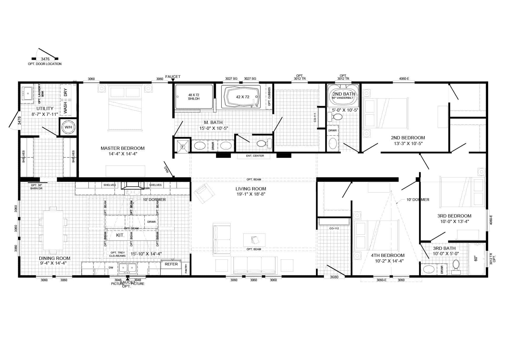 Farmhouse Clayton Homes Floor Plans House Plan