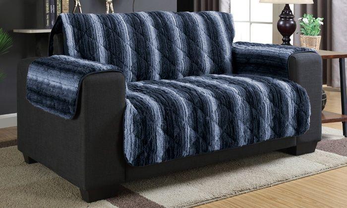 Brilliant Luxury Faux Fur Furniture Covers Loveseat Slipcovers Uwap Interior Chair Design Uwaporg
