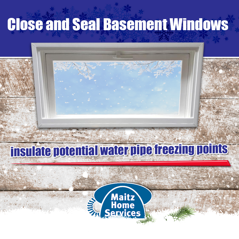 Keep Your Home Warm This Winter By Sealing Basement Windows And Insulating Nearby Indoor Pipes To Prevent Potential F Frozen Pipes Basement Windows Water Pipes