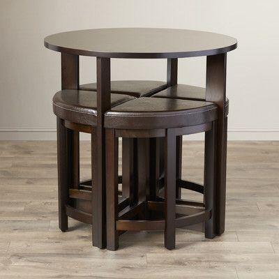 Earleville 5 Piece Dining Table Set Sunroom/porch Pinterest