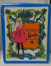 Vintage Mattel Blue The World of Barbie Doll Case #1002
