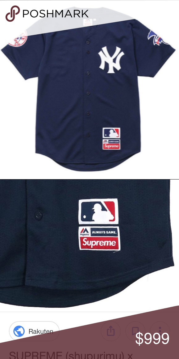 new product bb8bb 77321 Supreme x New York Yankees jersey Not in hand but when u ...