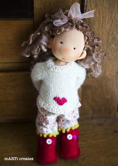 Daisy - 11'' Art doll by mARTi creates