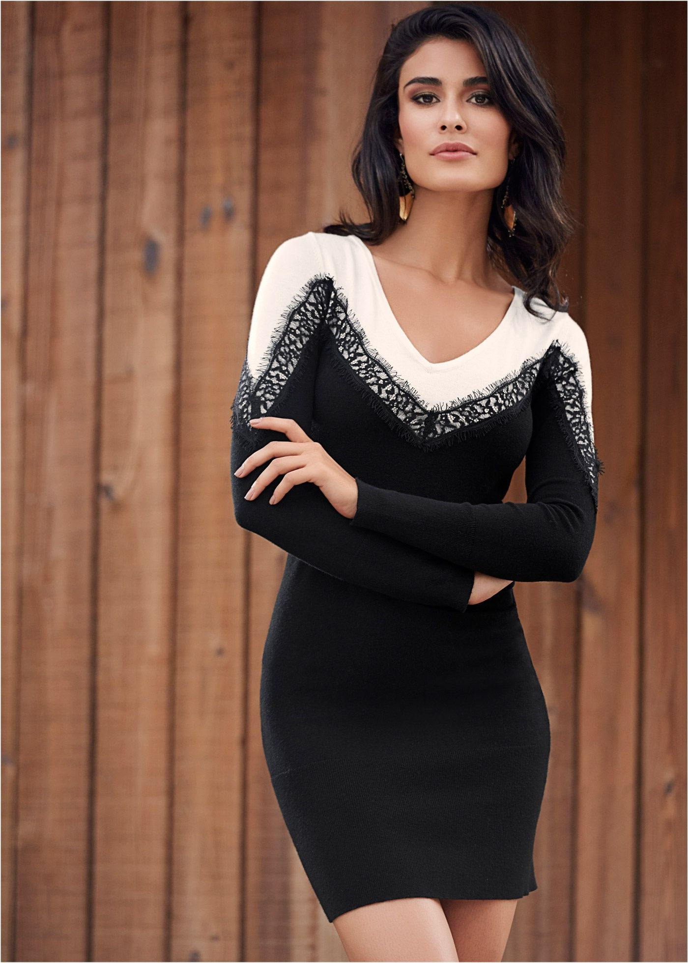 ff1ec03262 Vestido tubinho preto off white encomendar agora na loja on-line bonprix.com.br  R  149