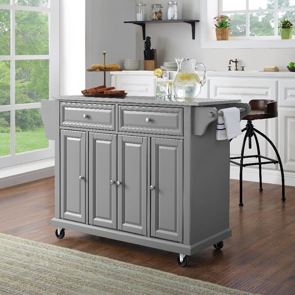 Stainless Steel Top Kitchen Cart Island Crosley Kf30002egy Kitchen Tops Granite Kitchen Design Kitchen Remodel