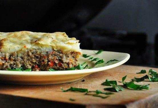 Vegetarian Mushroom Shepherd's Pie - With Vegan Version. Photo by gourmandelle