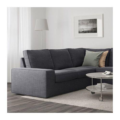 Chesterfield Sofa KIVIK Corner sofa with chaise longue Hillared anthracite IKEA