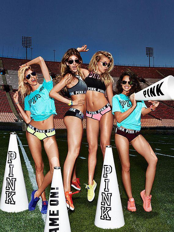 f1a937c72f Devon Windsor, Camila Morrone, Rachel Hilbert and Nina Daniele for PINK September  2015