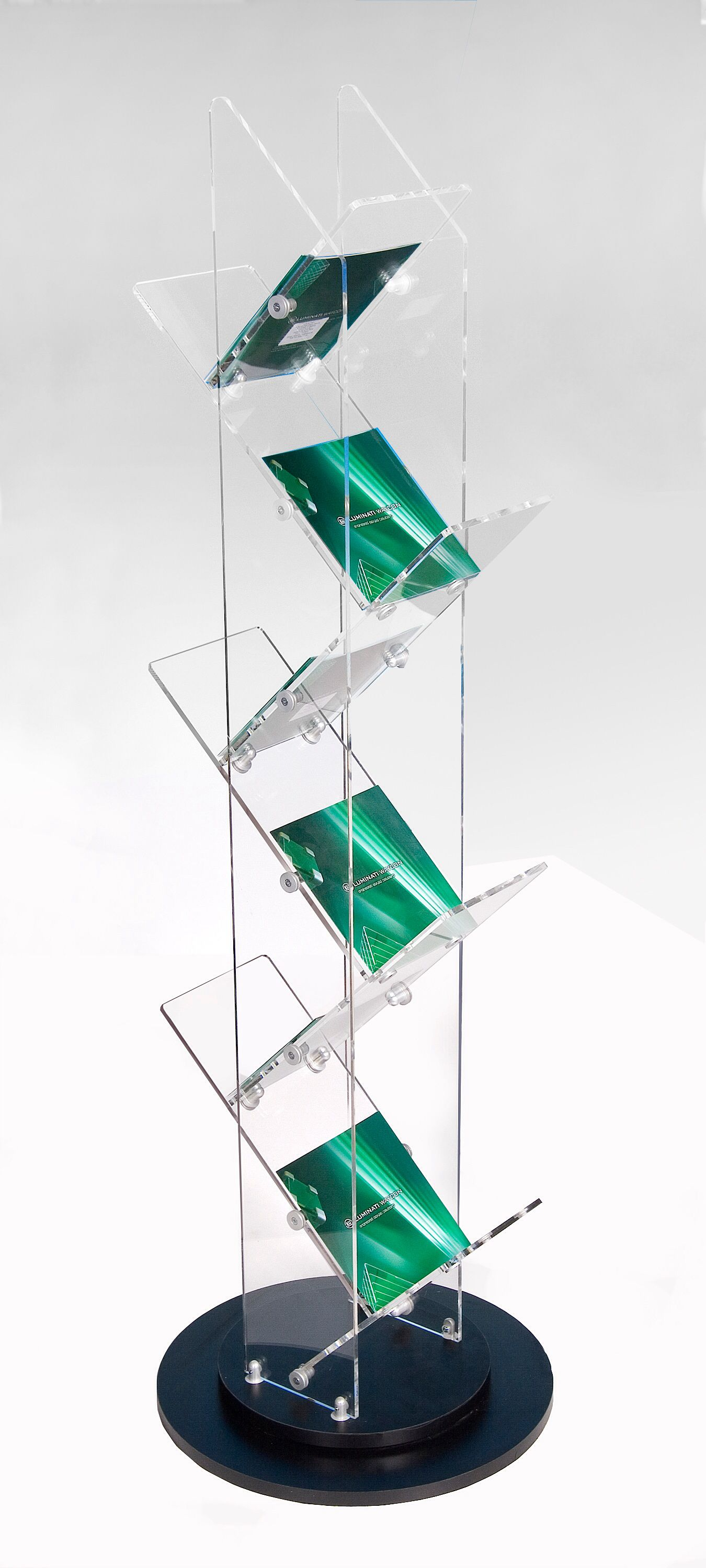 p leaflet picture literature mallet stock or mount magazine pamphlet brochure divulge photo holder display rack wall of wooden