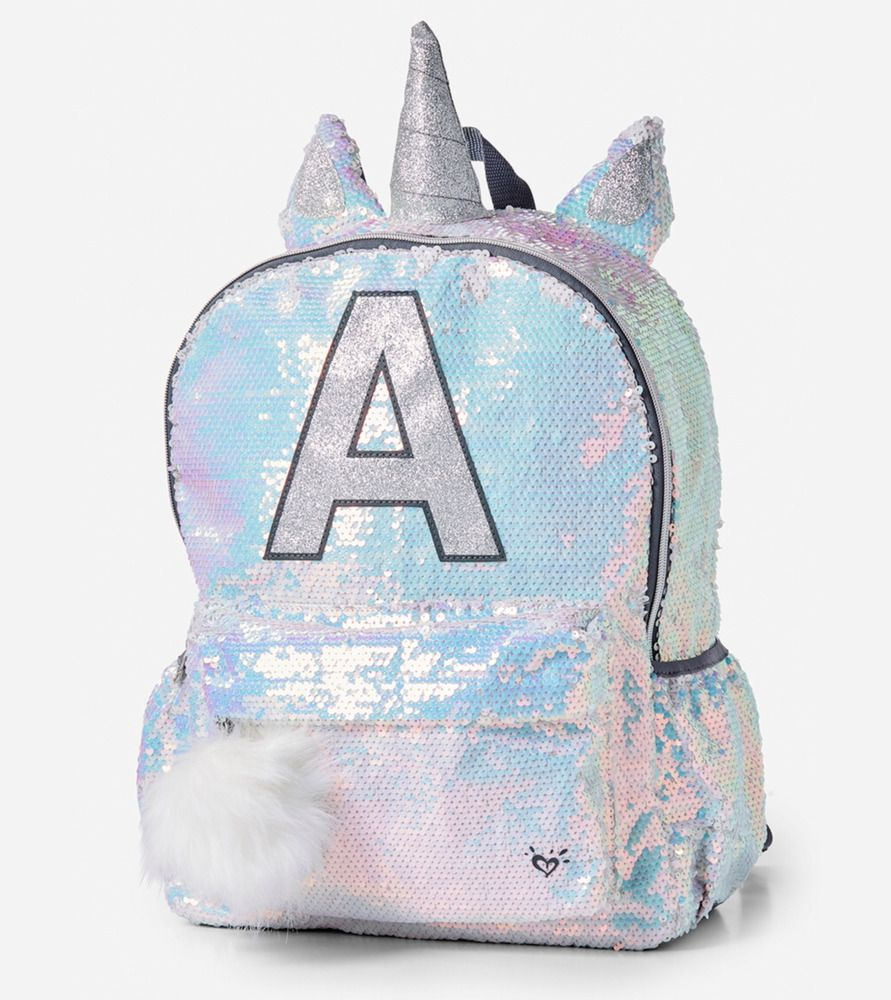 cfb9affe3fb Justice Girl's Shimmer UNICORN Initial P Backpack New with Tags ...