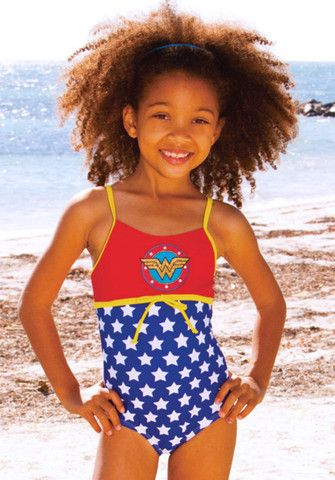 a4c3448cec567 Bunnies Picnic - DC Comics Wonder Woman Swimsuit for Girls - Boutique  Clothing for Girls and Boys
