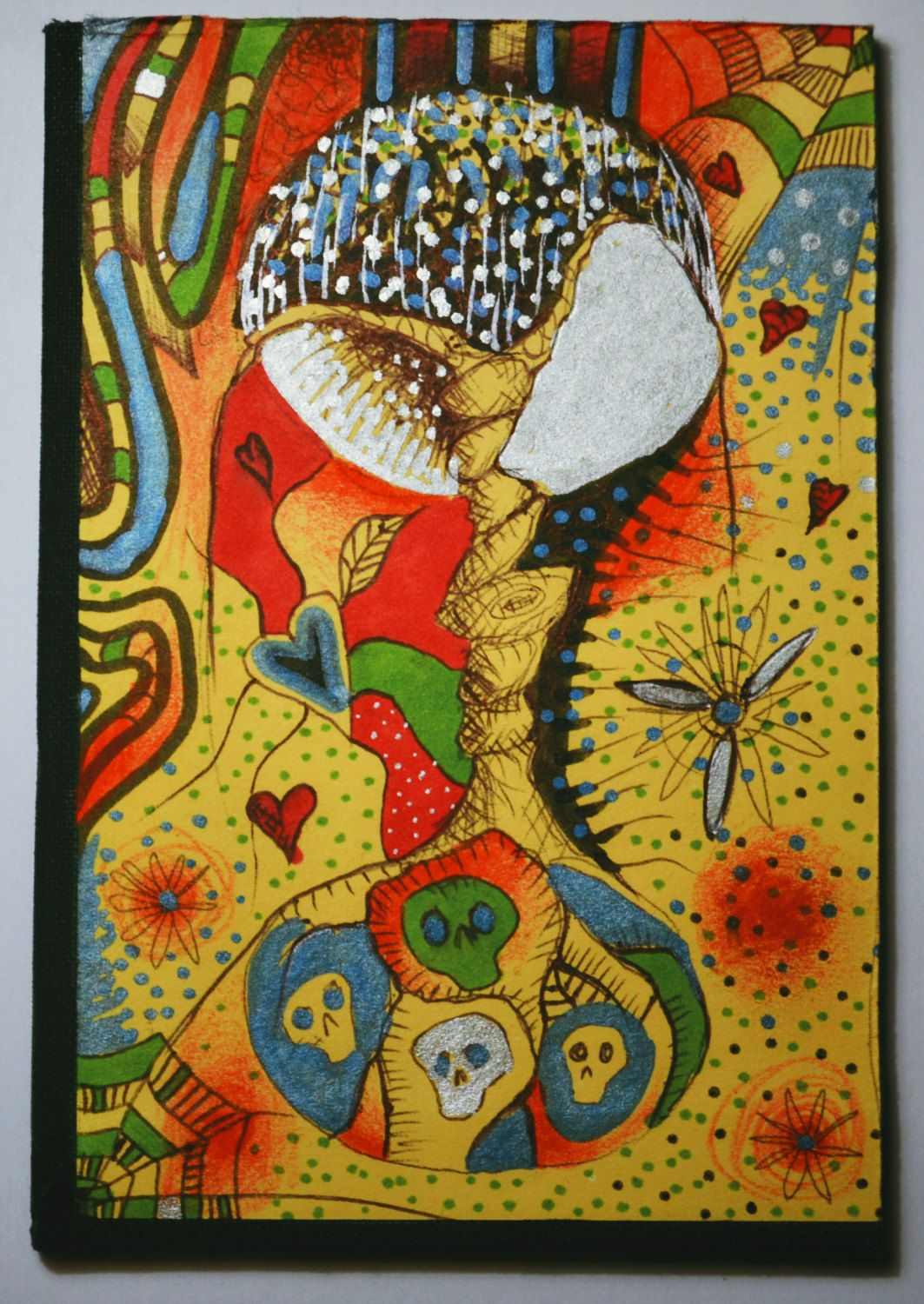 Original Psychedelic Painting,New Home Bright Halloween Spooky Art ...
