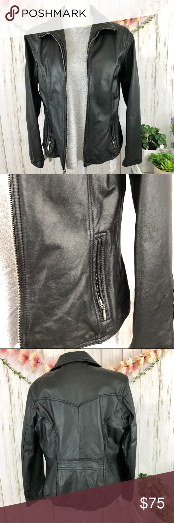 ‼SALE‼️WILSONS LEATHER Maxima Black Jacket WILSONS LEATHER