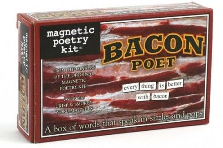 bacon magnetic poetry kit
