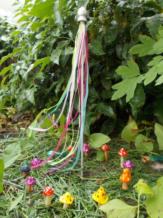 Colorful Fairy Garden Mushrooms Cake Topper By Fairyelements Fairy Garden Fairy Garden Mushrooms Fairy Garden Diy