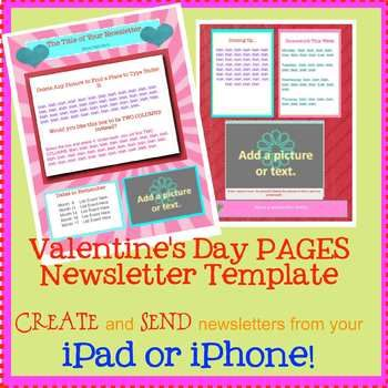 free pages valentine template create on the go using iphones