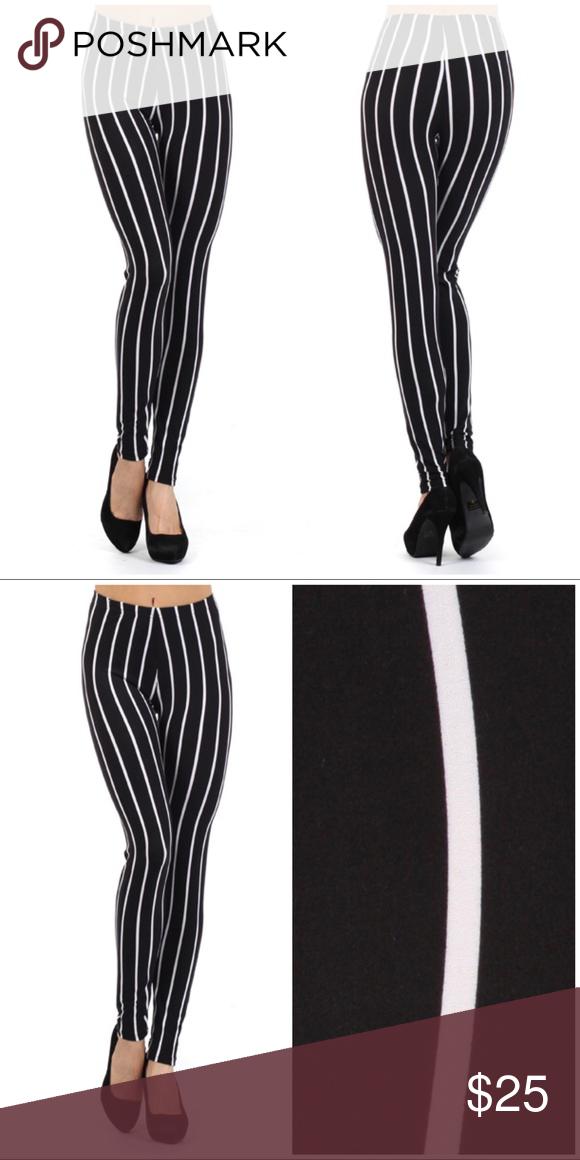 Black&White Stripes Print Legging Will add descriptions shortly Pants Leggings