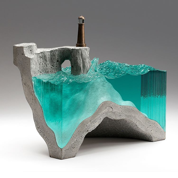 "Broken Liquid"" Glass And Concrete Sculptures By Ben Young"