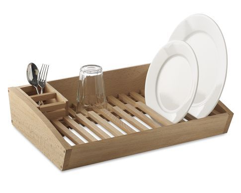 I Love Wood And This Saves Energy Wooden Dish Rack Wooden Kitchen Storage Wooden Drying Rack