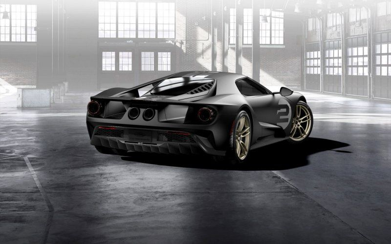 Wallpaper Ford Gt  Heritage Edition Sports Car Rear