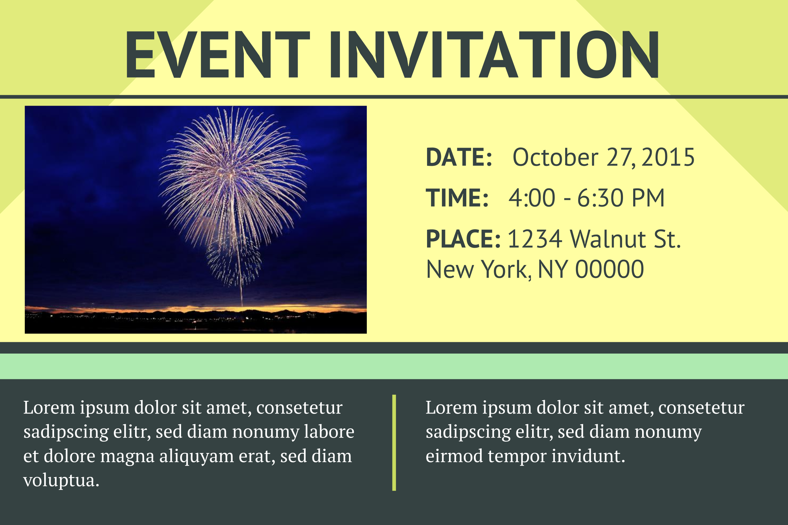 Symmetry Event Invitation Template