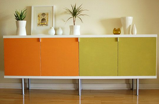 cool for a playroom - upgrade of an  ikea credenza.