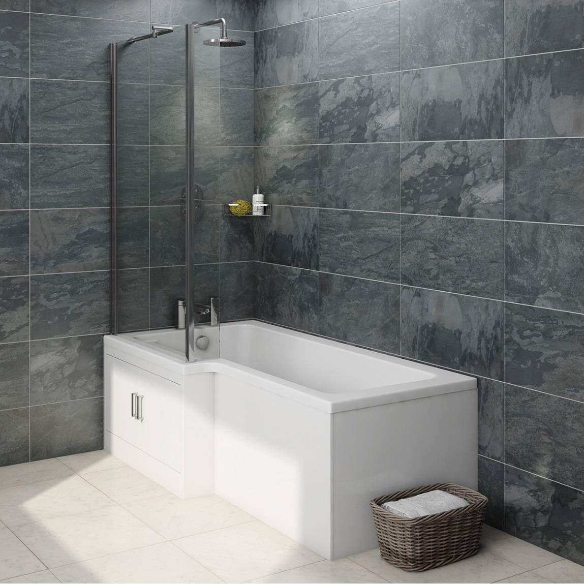 MySpace Boston Eco Shower Bath Left Hand with Storage Panel & 6mm ...