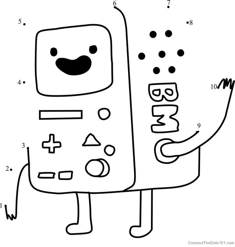 Bmo Dot To Dot Adventure Time Coloring Pages Printable Coloring Pages Coloring Pages