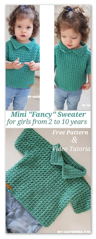 Mini Fancy Sweater: Free crochet pattern | croche | Pinterest ...