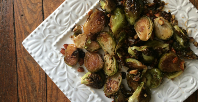 Balsamic Maple Brussels Sprouts with Toasted Almonds