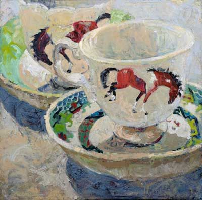 Lucy Culliton Tea cup with Reno the horse, 1997 | Lucy Culliton ...