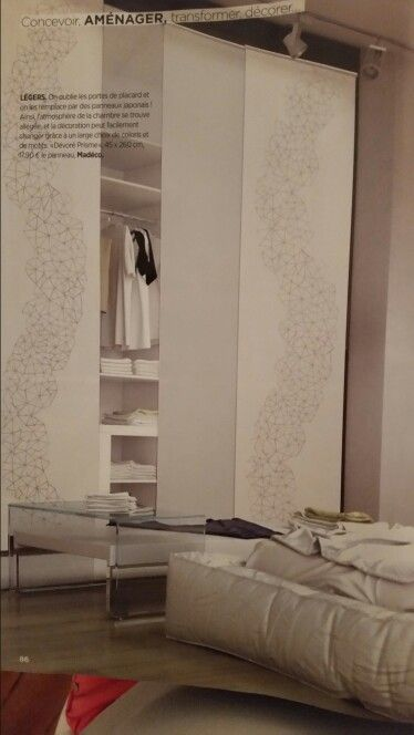 des panneaux japonais pour remplacer les portes de placards dans un dressing et all ger l 39 aspect. Black Bedroom Furniture Sets. Home Design Ideas