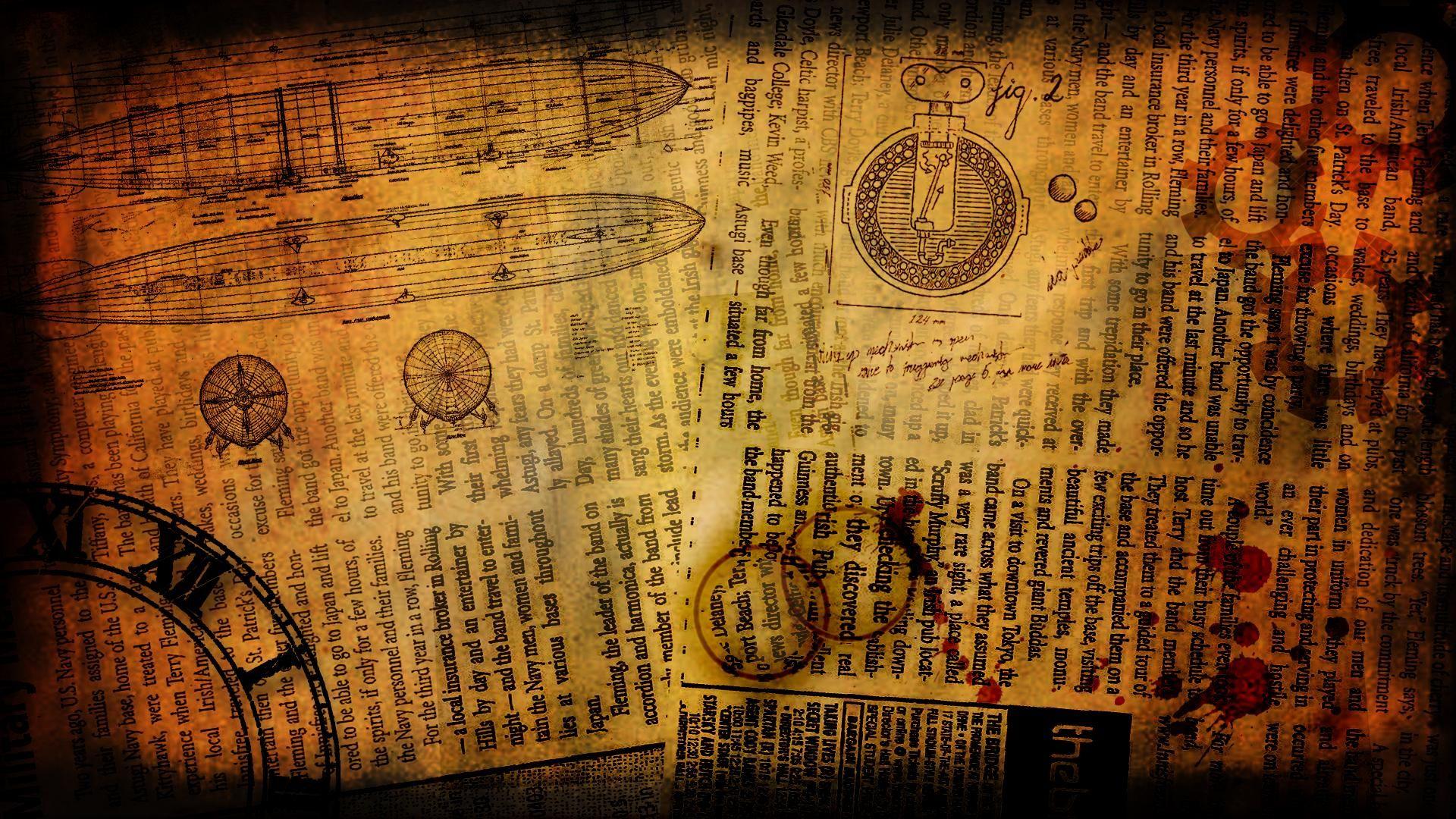 DeviantArt More Like Steampunk Wallpaper 1920x1080 By Bluepaw90