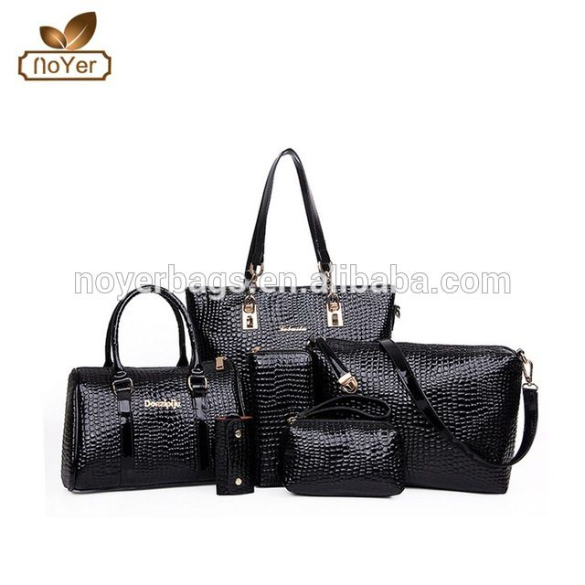 57e50c17d4 Source 2015 fashion 6 pcs women bag set, ladies-wallet-ladies-pars-hand-set- bag-genuine-wal on m.alibaba.com