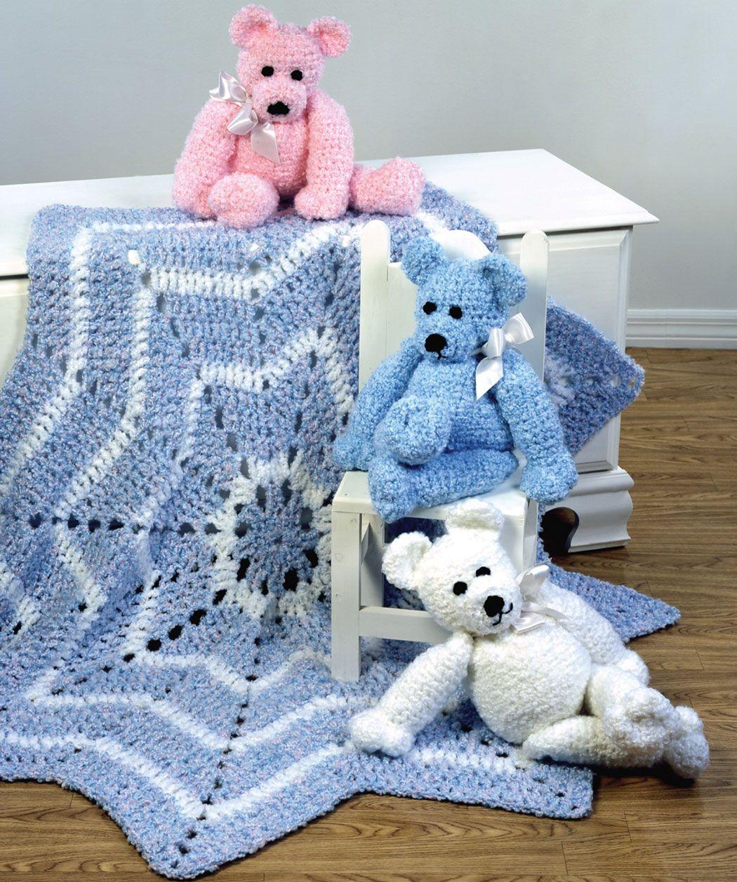 Merry Go Round Blanket Amp Teddy Bear Crochet Pattern Red