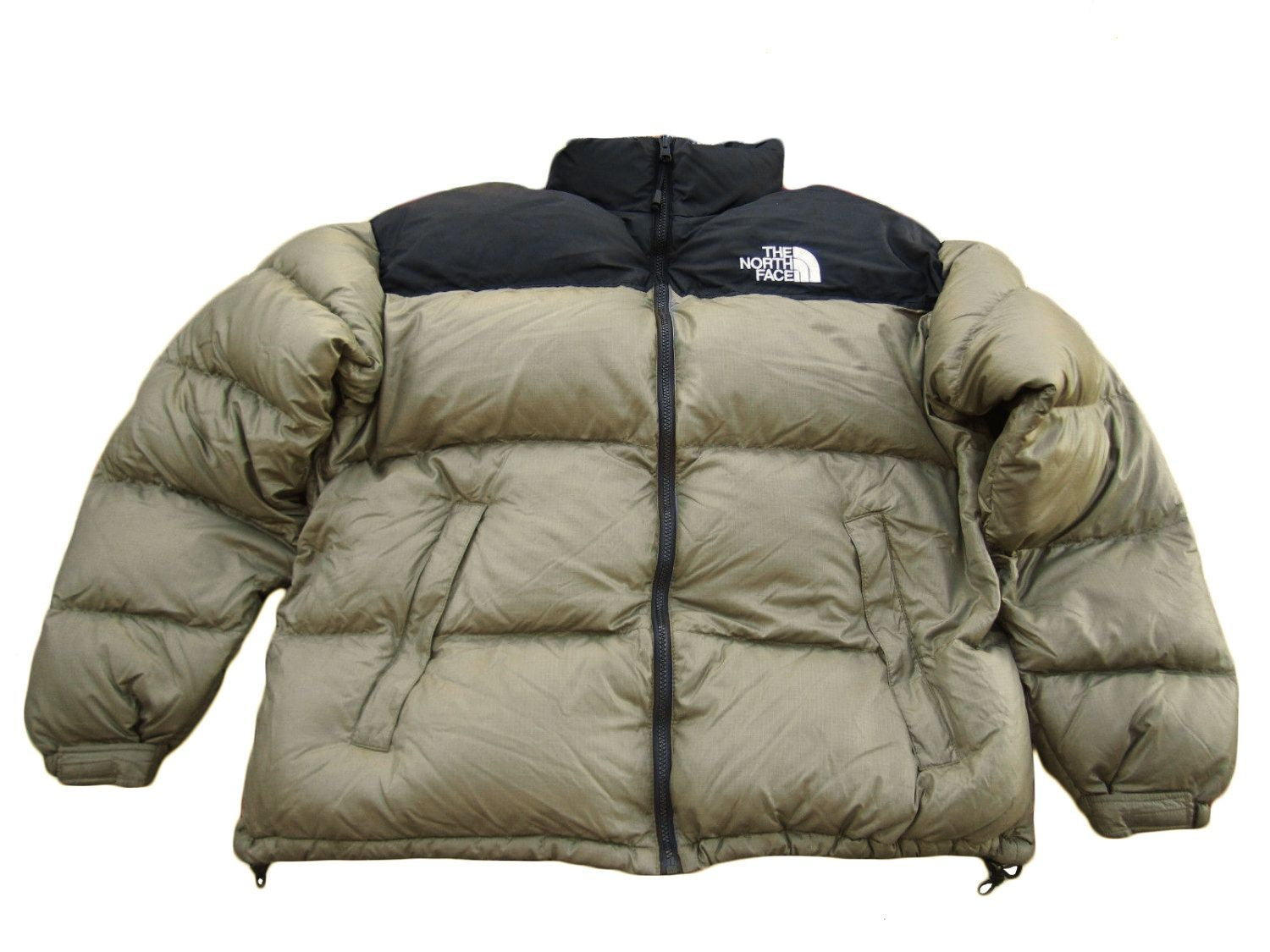 258abcaeace4 ... usa the north face mens down nuptse 700 puffa puffer jacket beige black  size s by