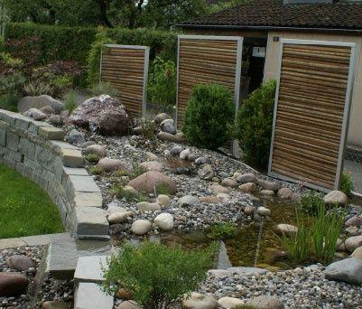 Sichtschutz - Ideen aus Stein, Geflecht, Holz und Stoff Garten - garten sichtschutz stein